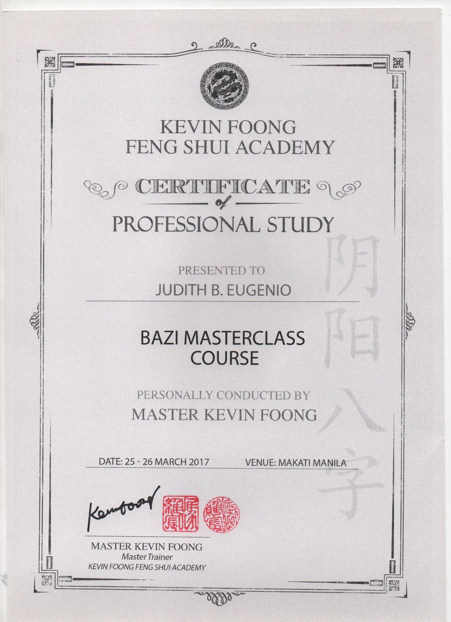 Bazi Masterclass Course