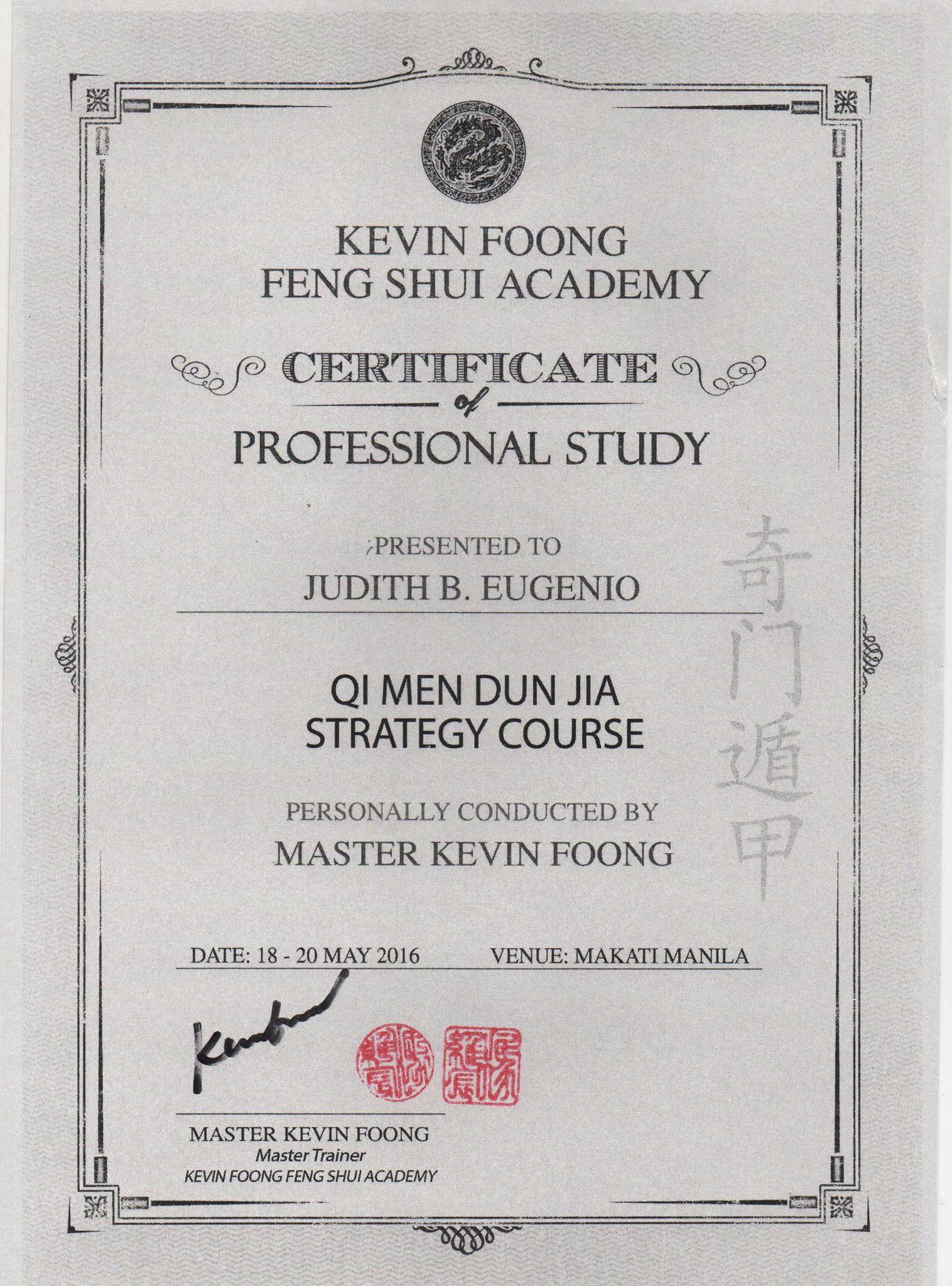 Qi Men Dun Jia Strategy Course