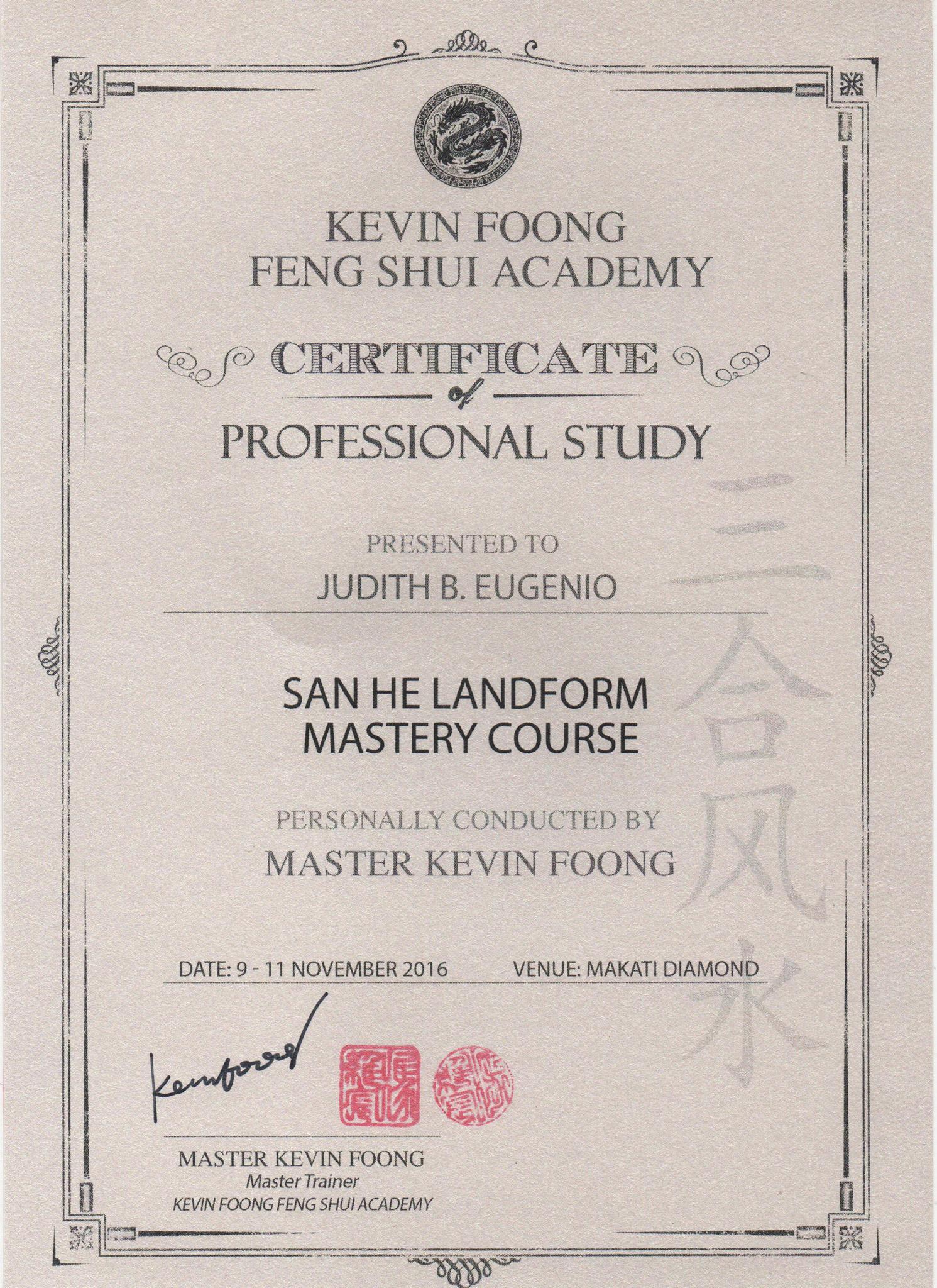 San he Landform Mastery Course