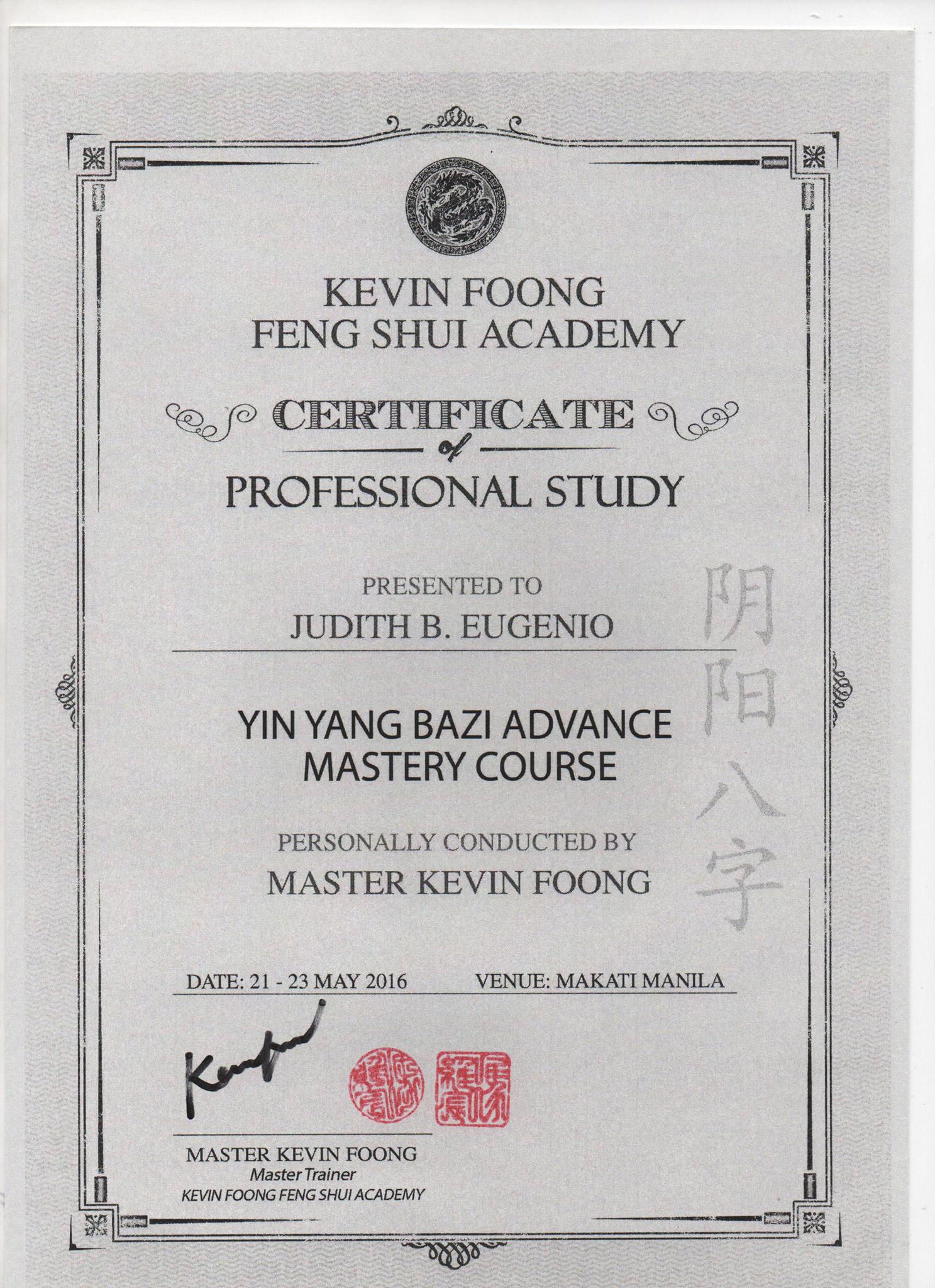 Yin Yang Bazi Advance Mastery Course